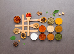 Spices mix selection.