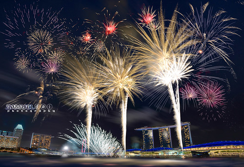 Singapore National Day Fireworks 2015-2