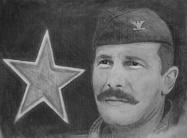 Brig. Gen. Robin Olds sketch