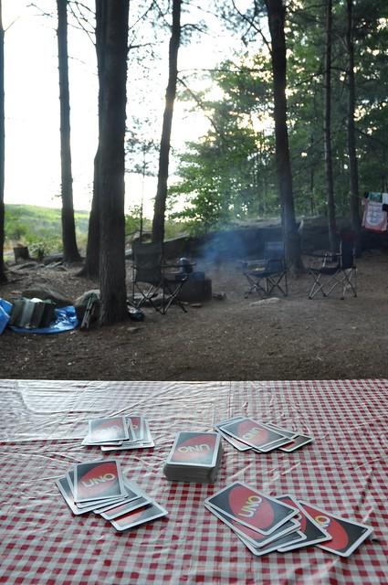Campsite card games