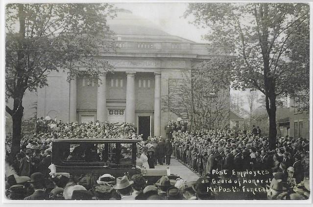 Battle Creek C.W. Post funeral 1914
