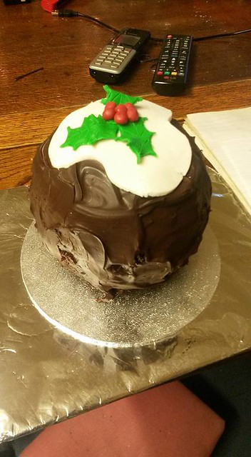 Christmas pudding chocolate cake by Noreen Meaney