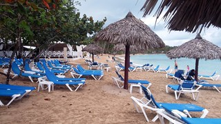 Dominican beach huts