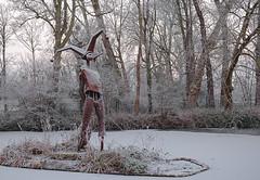 Harfleur sous la neige