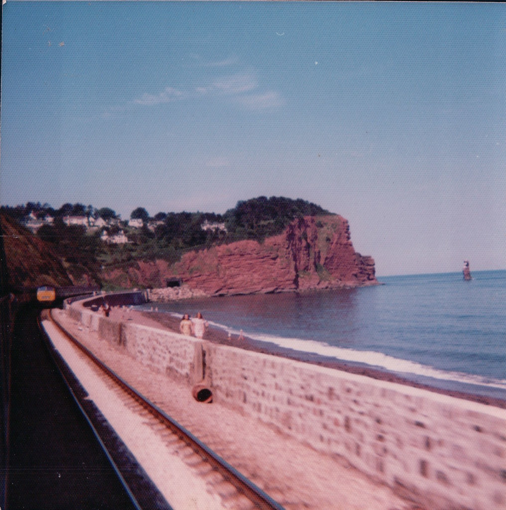 Along the sea wall in the 70s.