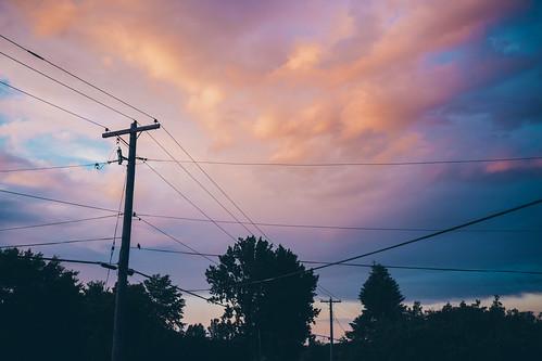 travel trees sunset sky ontario canada storm lines rain clouds canon lens eos shadows dusk mark glen pole explore hydro ii l 5d 24 mm 105 ef robertson glengarry sandfield