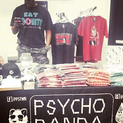 The Psycho Panda table at September 2013 Sneaker Con DC. #fbf #ppstwr #streetwear #style #fashion #clothing #creativity #classic #dmv #diy #doitbig #GoPandaGo #fresh #sneakerhead #sneakercon #dc #streetfashion #culture #lovewhatyoudo #lovewhatyouwear #ill