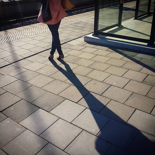 'On the way to the dynamic & exciting work space' - #Brussels #Belgium #Etterbeek #station #street #photography #crossed #commuter #people #shadow #passenger #traveller