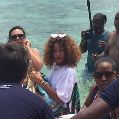Had the pleasure of seeing #Rihanna walk from her vacation home to a speedboat. #lifecomplete #barbados