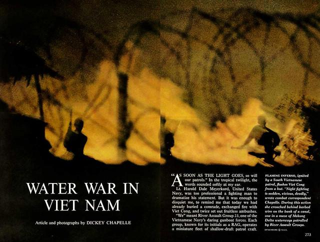 NATIONAL GEOGRAPHIC February 1966 (3) - WATER WAR IN VIET NAM - Bài và ảnh của DICKEY CHAPELLE