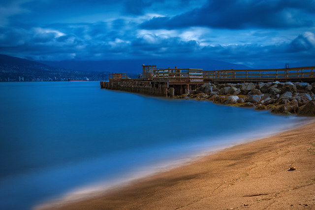 Long Exposure of Jericho Pier at Jericho Beach (Vancouver BC, Canada)