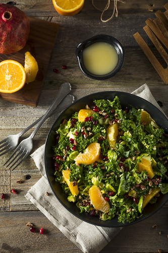 Raw Healthy Kale Winter Salad