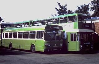 91-183  Bristols and Leylands at Hawkhurst Garage