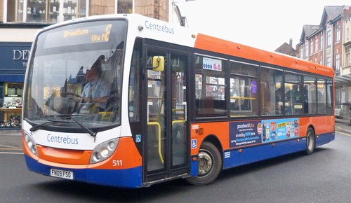 FN09 FSO 'Centrebus' No. 511 Alexander Dennis Ltd. Enviro 200 on 'Dennis Basford's railsroadsrunways.blogspot.co.uk'