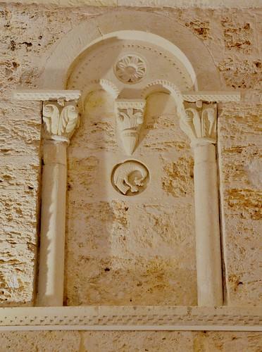 Abajas (Burgos). Iglesia de Nuestra Señora. Ábside. Ventana