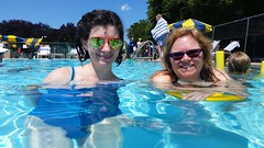 Barbara And Sue In The Pool