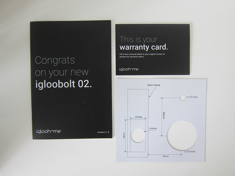 Igloohome Smart Deadbolt Lock 02 - Booklets