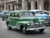 1948 Green Chevrolet Fleetline Taxi. Havana Cuba