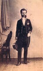 1863, Parigi, Giuseppe Tornielli Brusati di Vergano, in divisa diplomatica