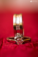 ring, red, jewellery, macro photography, wedding ring,