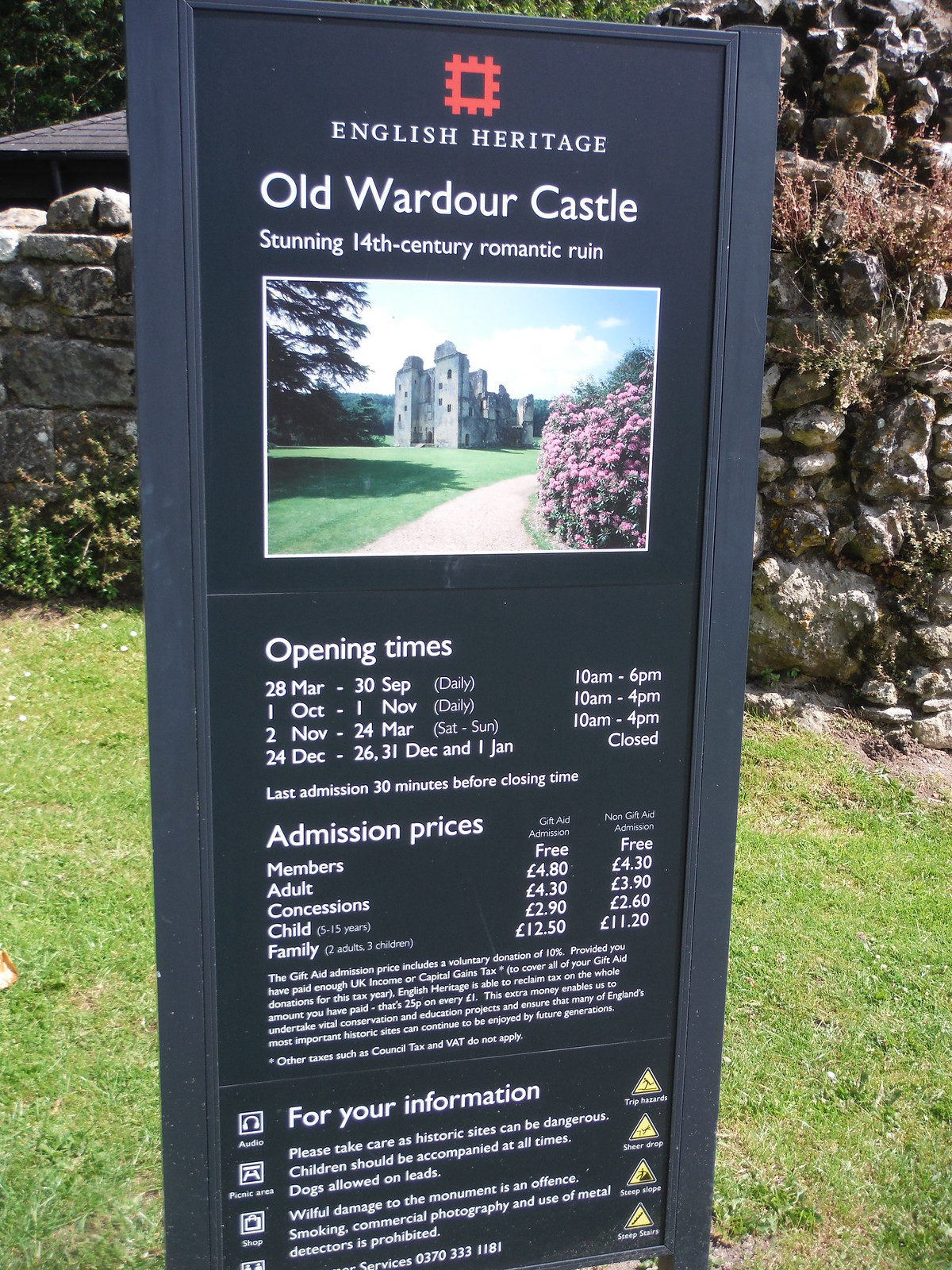 English Heritage Info, Old Wardour Castle SWC Walk 252 Tisbury Circular via Donhead St. Andrew