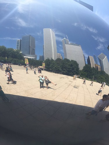 goofing at the bean