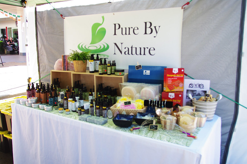 Pure By Nature at the Cleveland Markets, Brisbane SE Australia