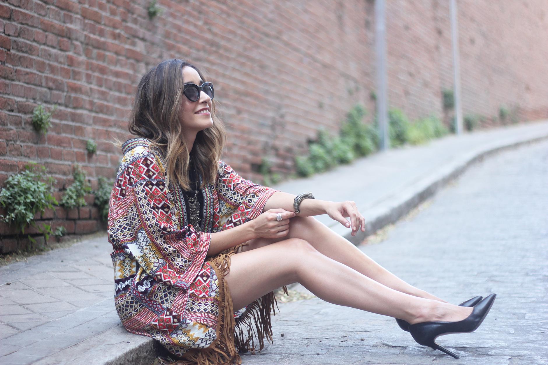 Kimono With Black Jumpsuit15