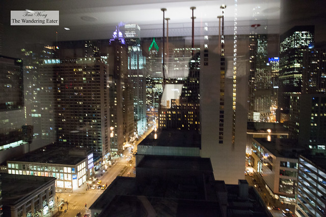View of downtown Chicago from the private dining room