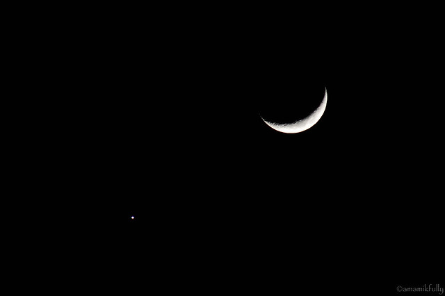 月と金星 2017.01.02