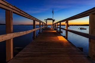 Nightfall Spruce Point Inn Dock