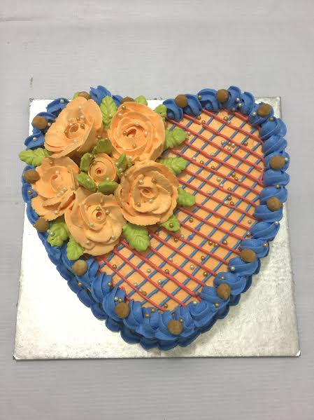 Heart Cake by Jagrat Mistry of Krishna Cakes and Bakes