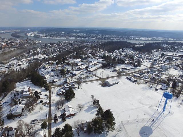 Arial Photo of Snow in Marietta