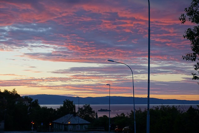 Sunset in Trondheim