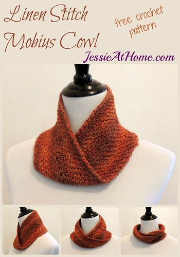 Linen Stitch Mobius Cowl Jessie At Home