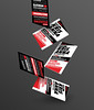 Matator red typography business card