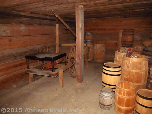 A storeroom in the fort - one woman had a baby here during the 1777 siege. Fort Stanwix National Monument, New York
