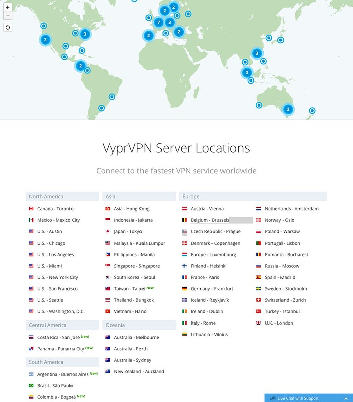 VyprVPN - Server Locations