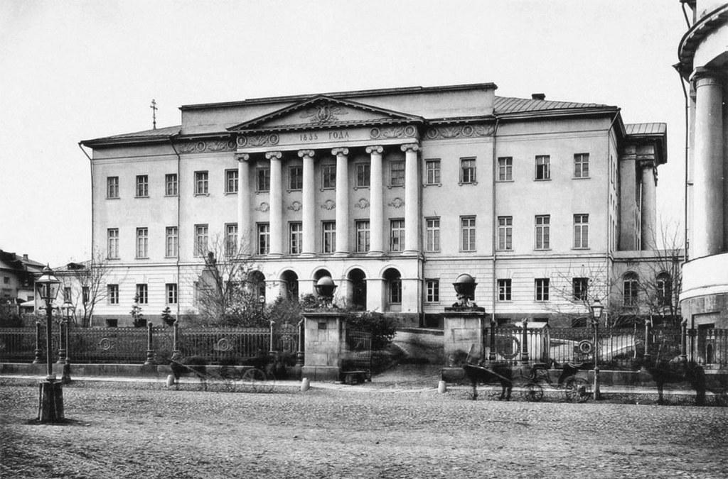 Здание Московского университета. Фотография 1884 года