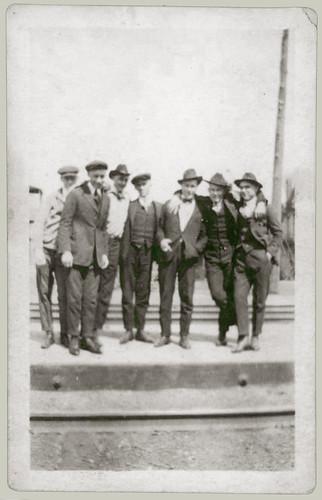 Men posing