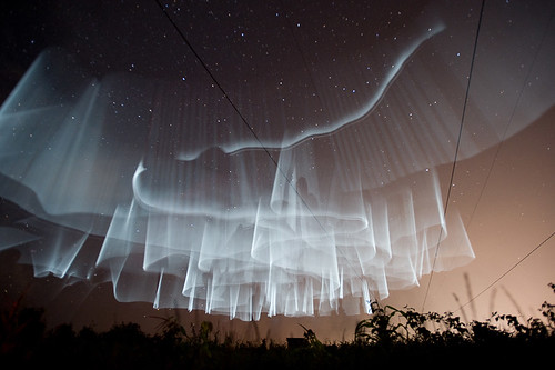 White Northern Lights in Finland