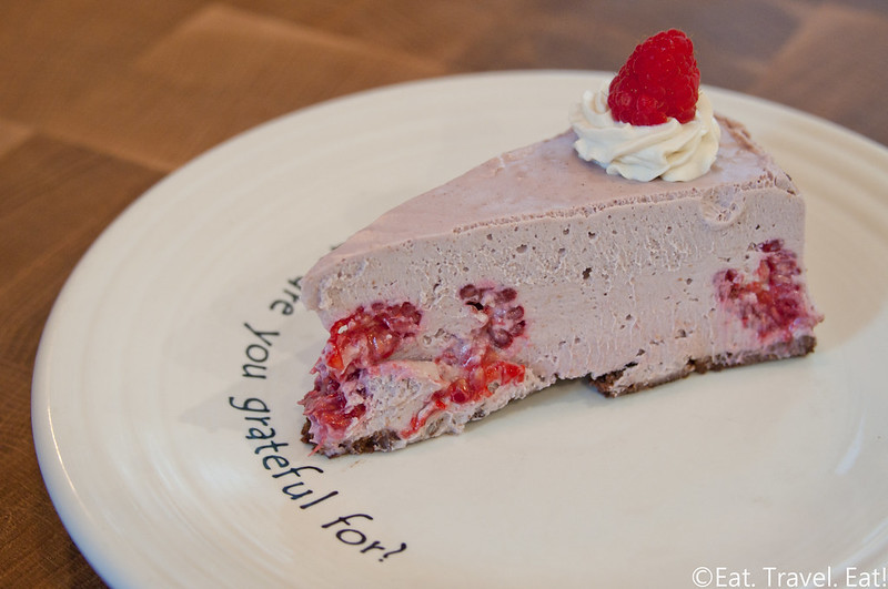 Cafe Gratitude- Los Angeles (Arts District), CA: Remarkable- Raspberry Cheesecake