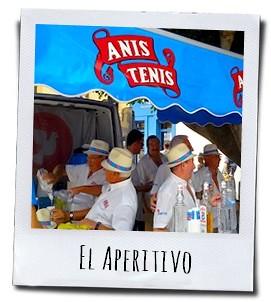 Iedereen krijgt een lekker glaasje Anis als aperitief