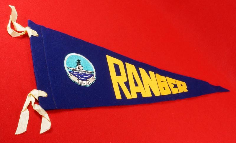 RD15149 Vintage USS Ranger CVA-61 Pennant DSC08477