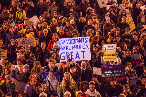 Minneapolis Protest Against Immigration Ban - Immigrants Make America Great