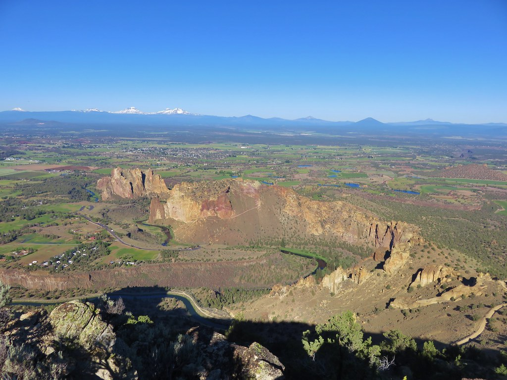 Smith Rock State Park from the summit above Burma Road