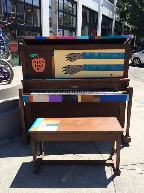 Street piano in Portland, OR