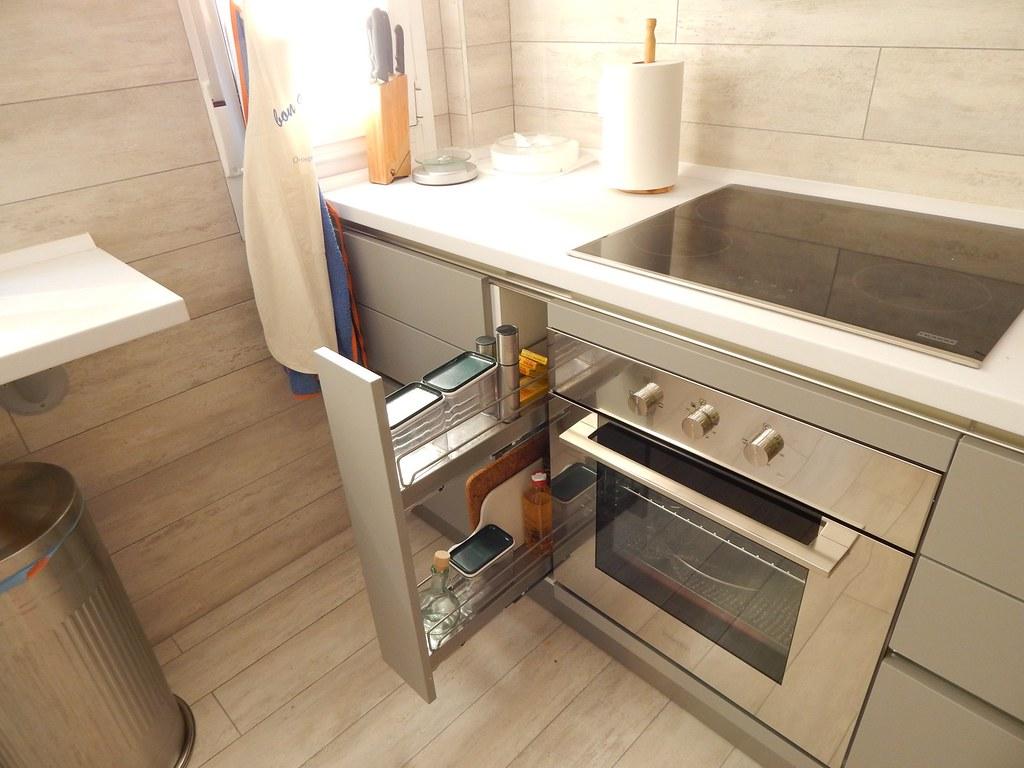 Muebles de cocina en gris perla for Esmalte para muebles de cocina