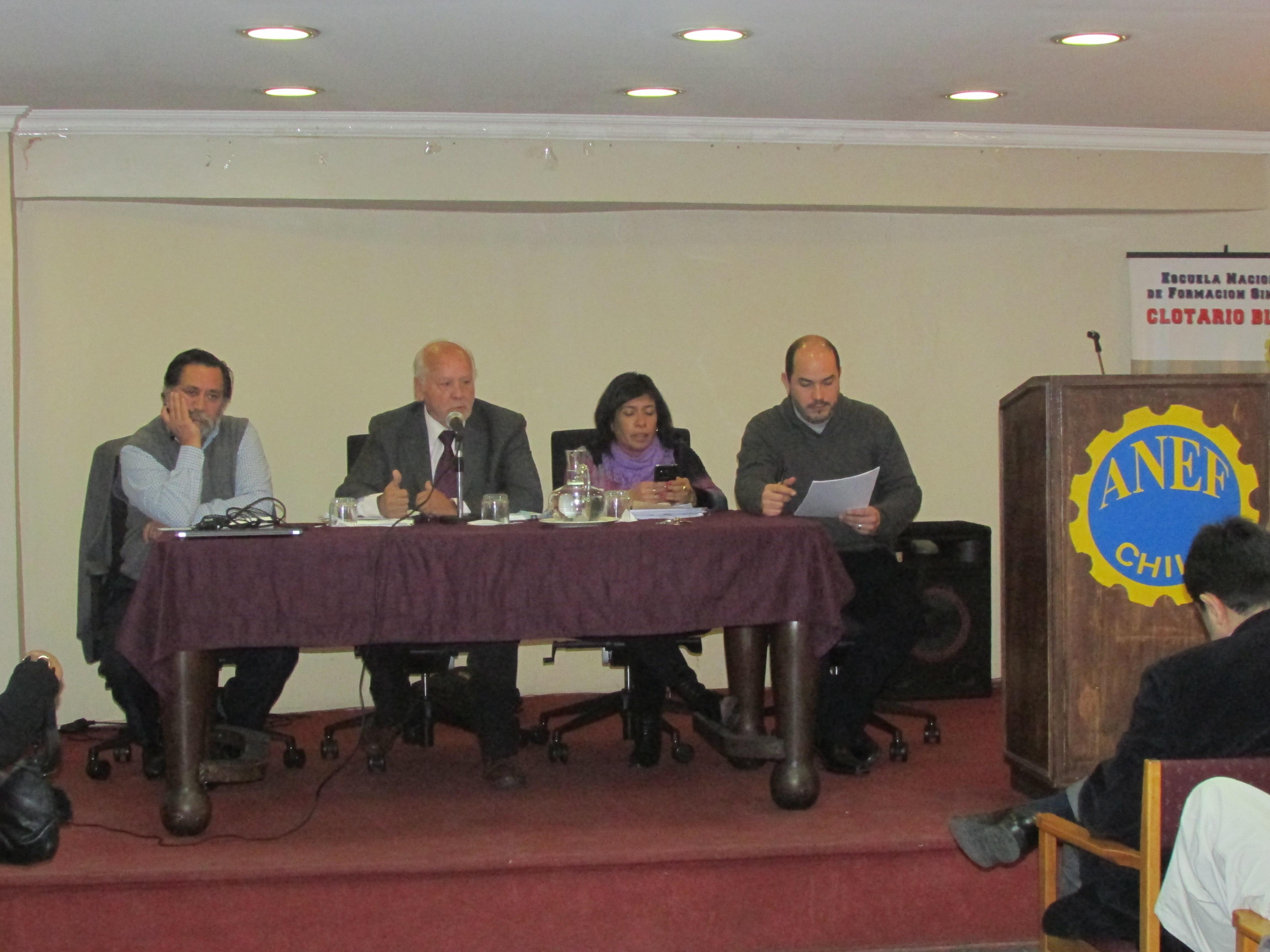 Gremios del FTH presentes en Consejo de Presidentes ANEF por negociación sectorial con el gobierno - 24 Junio 2015