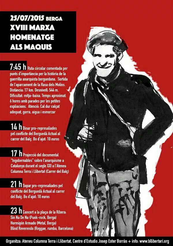 XVIII Marxa-Homenatge als Maquis a Berga el 25 de juliol